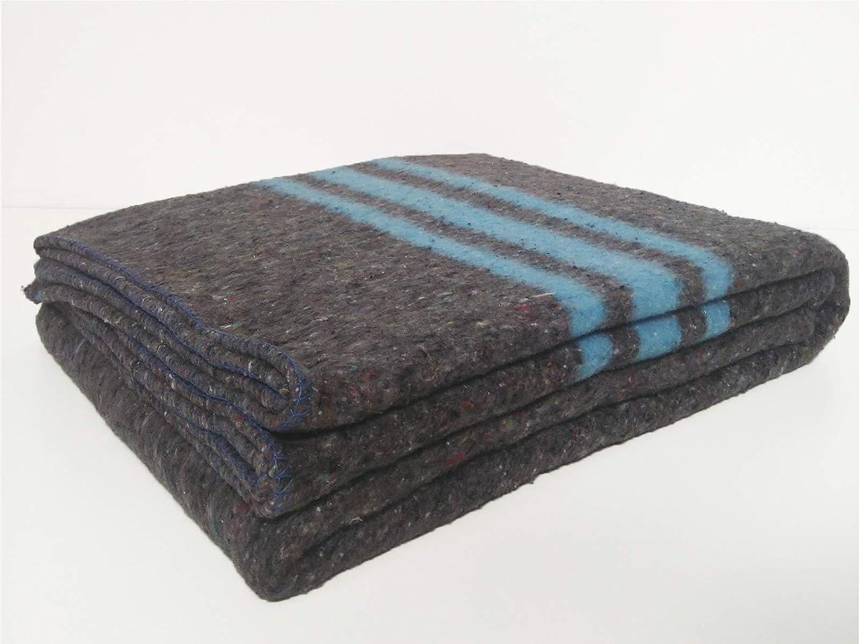 Sanz Marti pack 2 mantas Mantas Mudanzas 140x200 gruesas Fabricadas en Espa/ña azul