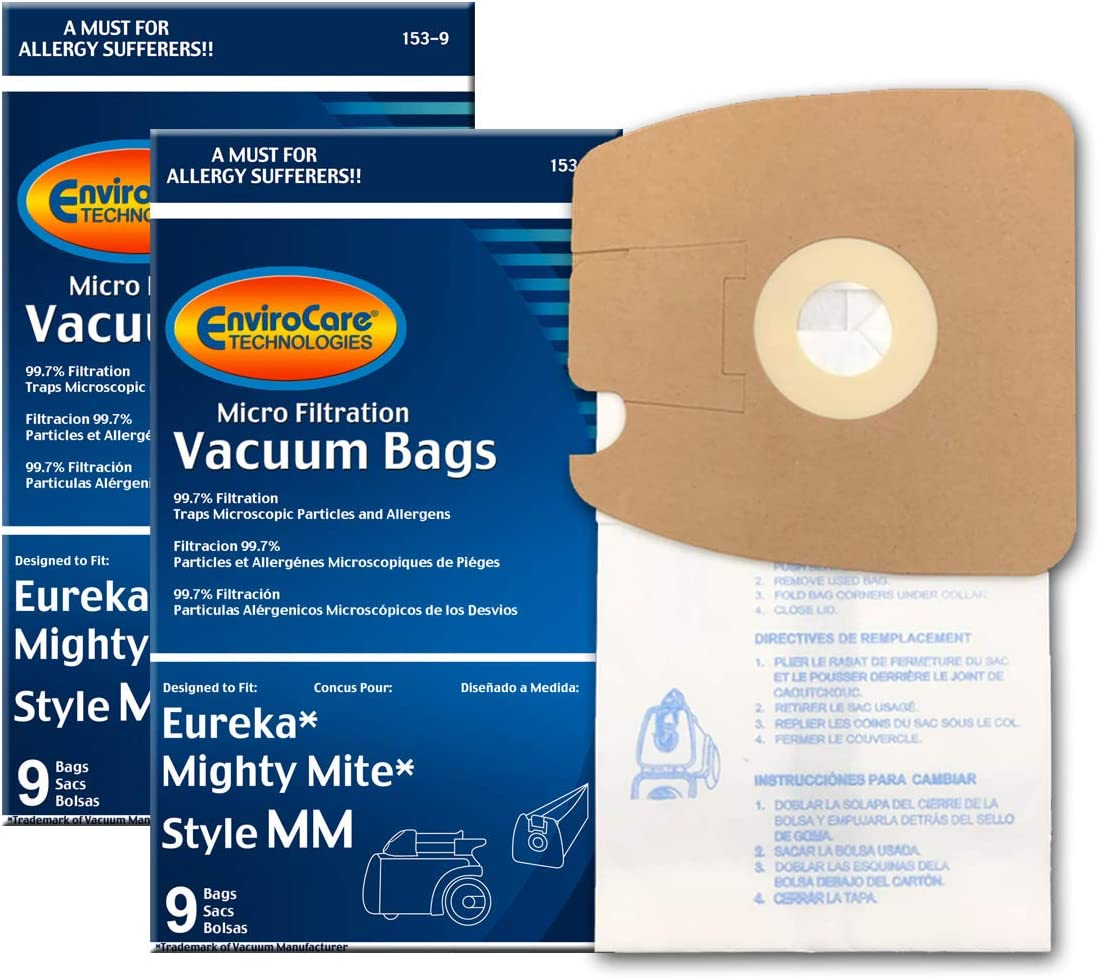 EnviroCare Replacement Vacuum Bags for Eureka Style MM Eureka Mighty Mite 3670 and 3680 Series Canisters 18 Bags