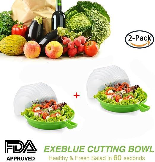 Creative Salad Cutter Bowl Original Salad Tools Vegetable Fruit Slicer Holder US