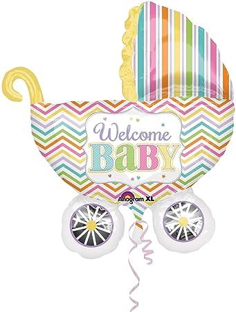 Großer Folienballon * WELCOME BABY * für Geburt // SUPERSHAPE ...