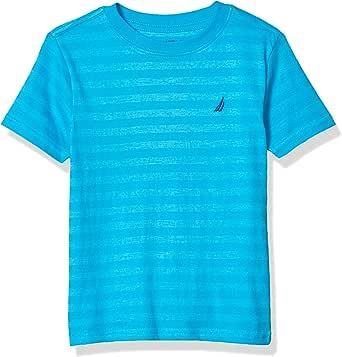 NAUTICA Boys' Short Sleeve Wide Striped Crew Neck T-Shirt