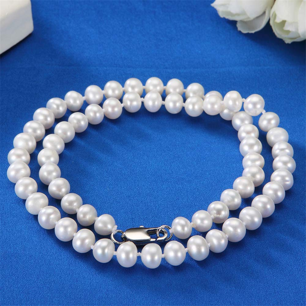 Natural Freshwater Pearl Lady Fashion Jewelry 925 Sterling Silver Shell Pendant TTLElife Bbyaki Pearl Necklace for Women