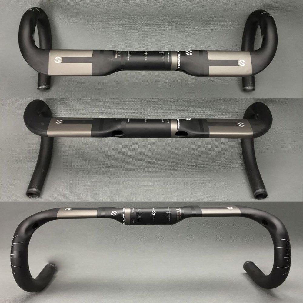 440mm TOSEEK Ultra Light volle Carbon-Faser UD Muster AERO Lenker 31.8mm F/ür Rennrad