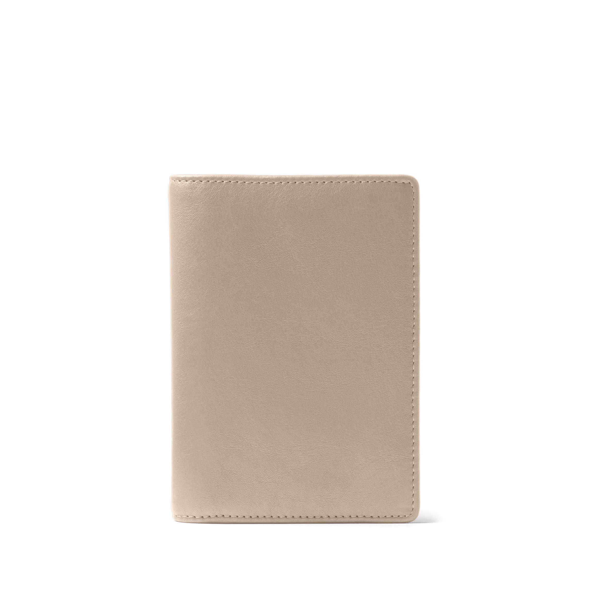 Deluxe Passport Cover - Full Grain Leather Leather - Ginger (gray)