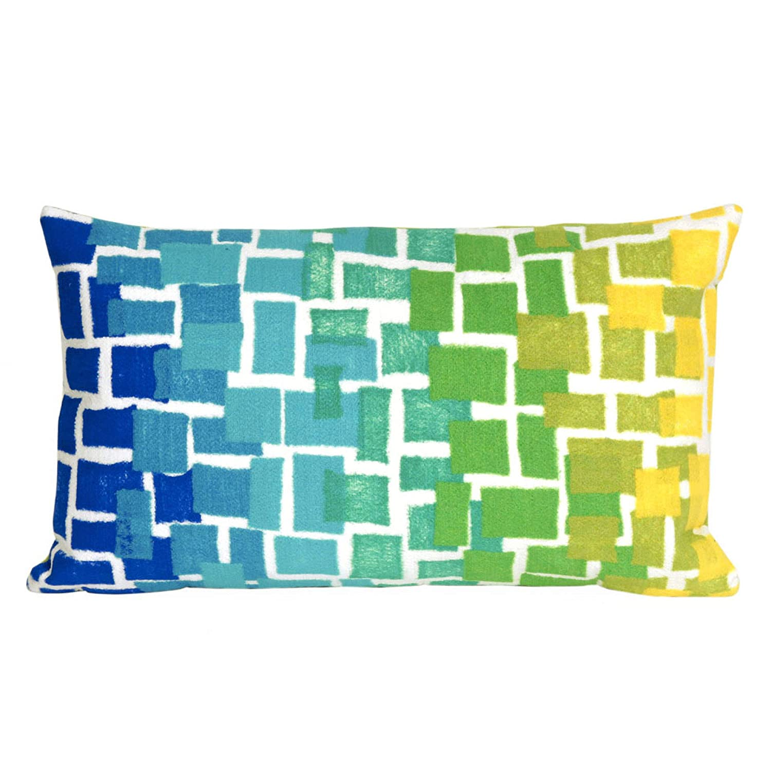 Liora Manne Mystic II Mosaic Indoor Outdoor pillow, Cool – 12 X 20