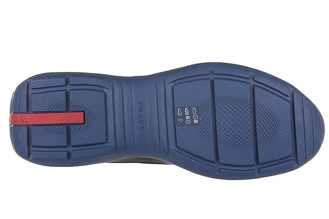 Chaussures baskets sneakers homme en cuir nevada rubber bike Prada 9pGMGVpewc