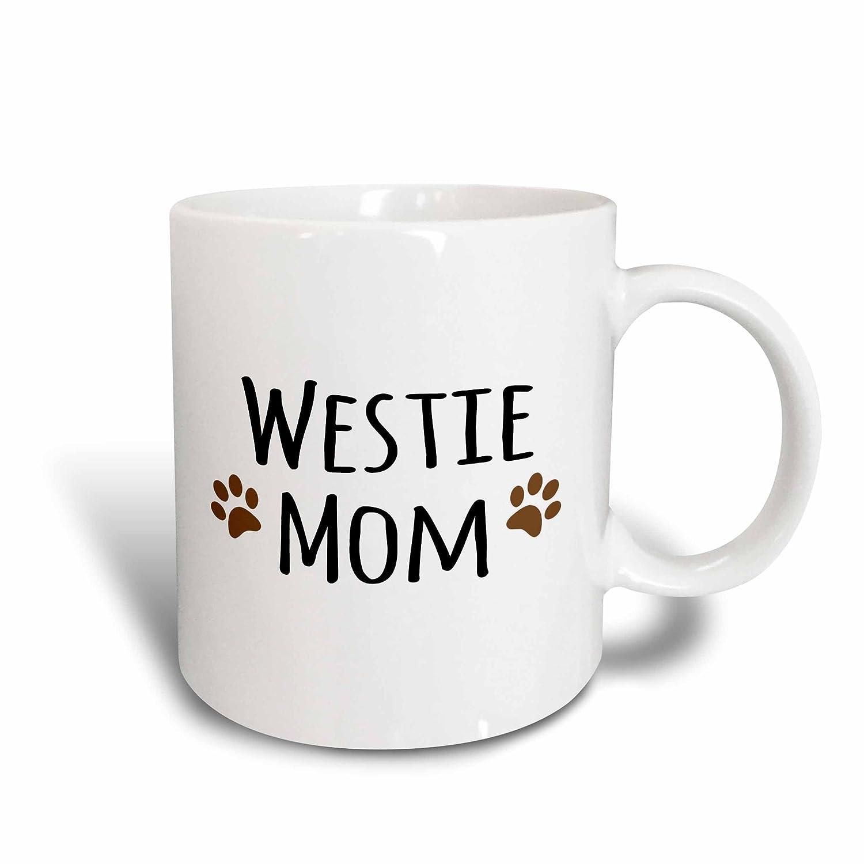 mug/_154215/_3 Doggie by breed West Highland White Terrier Magic Transforming Mug Westie Dog Mom doggy lover owner brown paw prints 3dRose 11oz