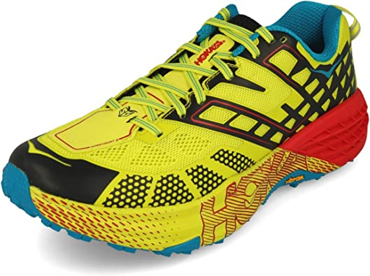 Hoka One One Speedgoat 2 - Zapatillas de running para hombre, color Amarillo, talla 43 EU: Amazon.es: Zapatos y complementos