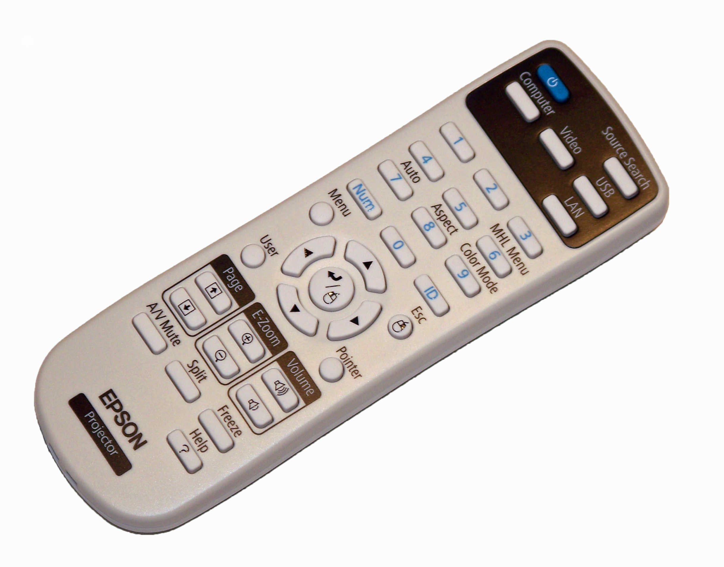 OEM Epson Projector Remote Control For Epson PowerLite 965H, PowerLite X27, PowerLite W29, PowerLite S27