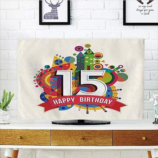 iprint LCD TV Cubierta de Polvo, 13 cumpleaños Decoraciones ...