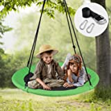 WONDERVIEW Tree Swing, Outdoor Swing with Hanging Strap Kit, 40 Inch Diameter 600lb Weight Capacity, Great for…