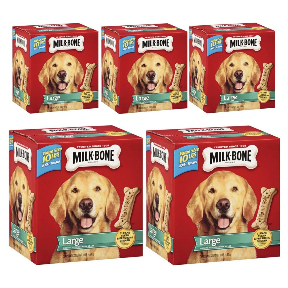 5 pack Dog Chews & Treats Milk-Bone Original Dog Biscuits for Large-Sized Dogs, 10-Pound, New (5 Pack)