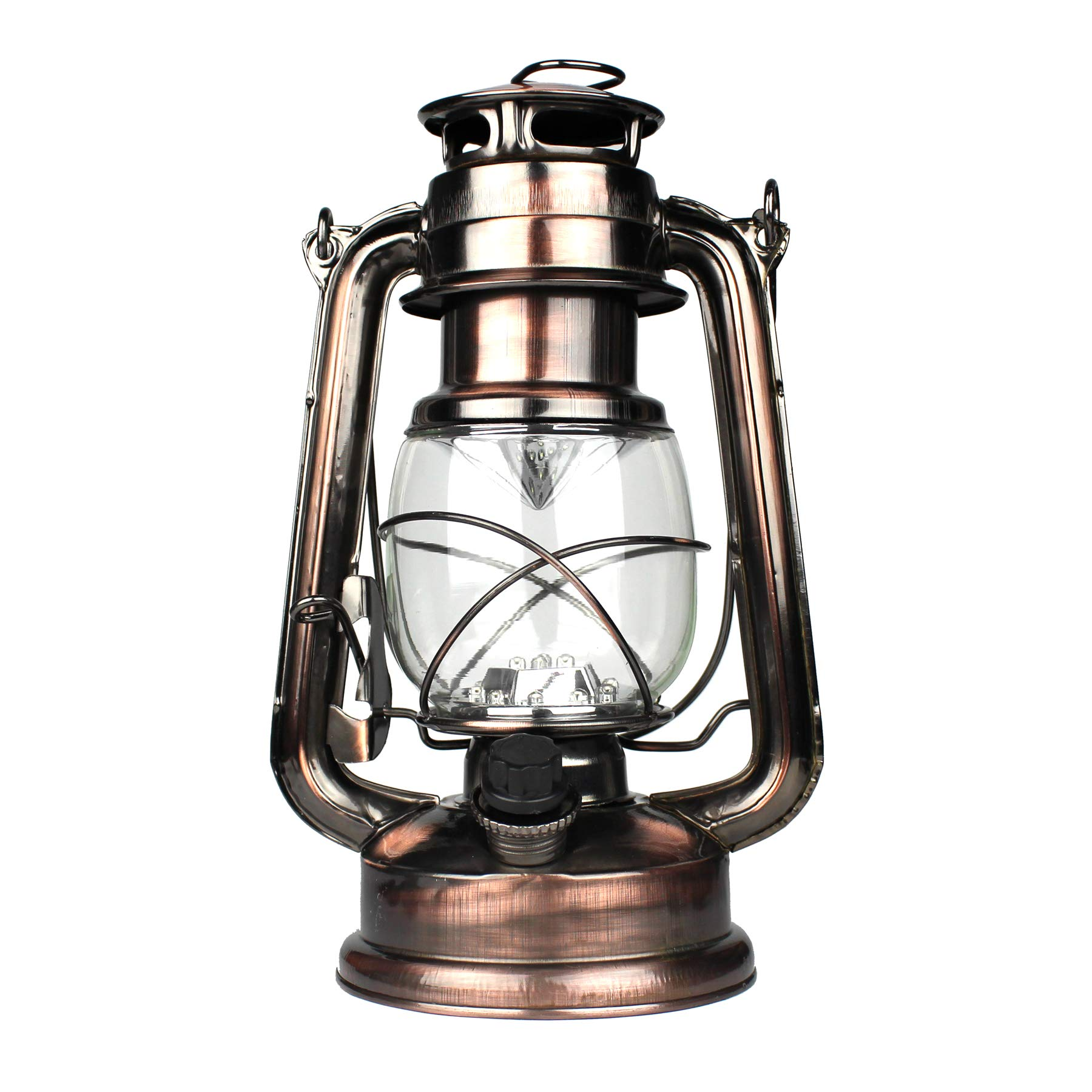 WeatherRITE LED Battery-Operated Old-Fashioned Rustic-Lantern Antique-Decor 5572 (4-Pack)