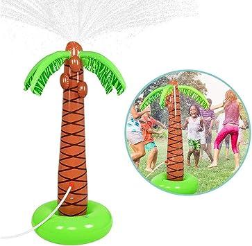 Rclhh Spray de Agua Inflable Palmera,Juguetes Jardín al Aire Libre Pulverizador de Agua para niños: Amazon.es: Deportes y aire libre