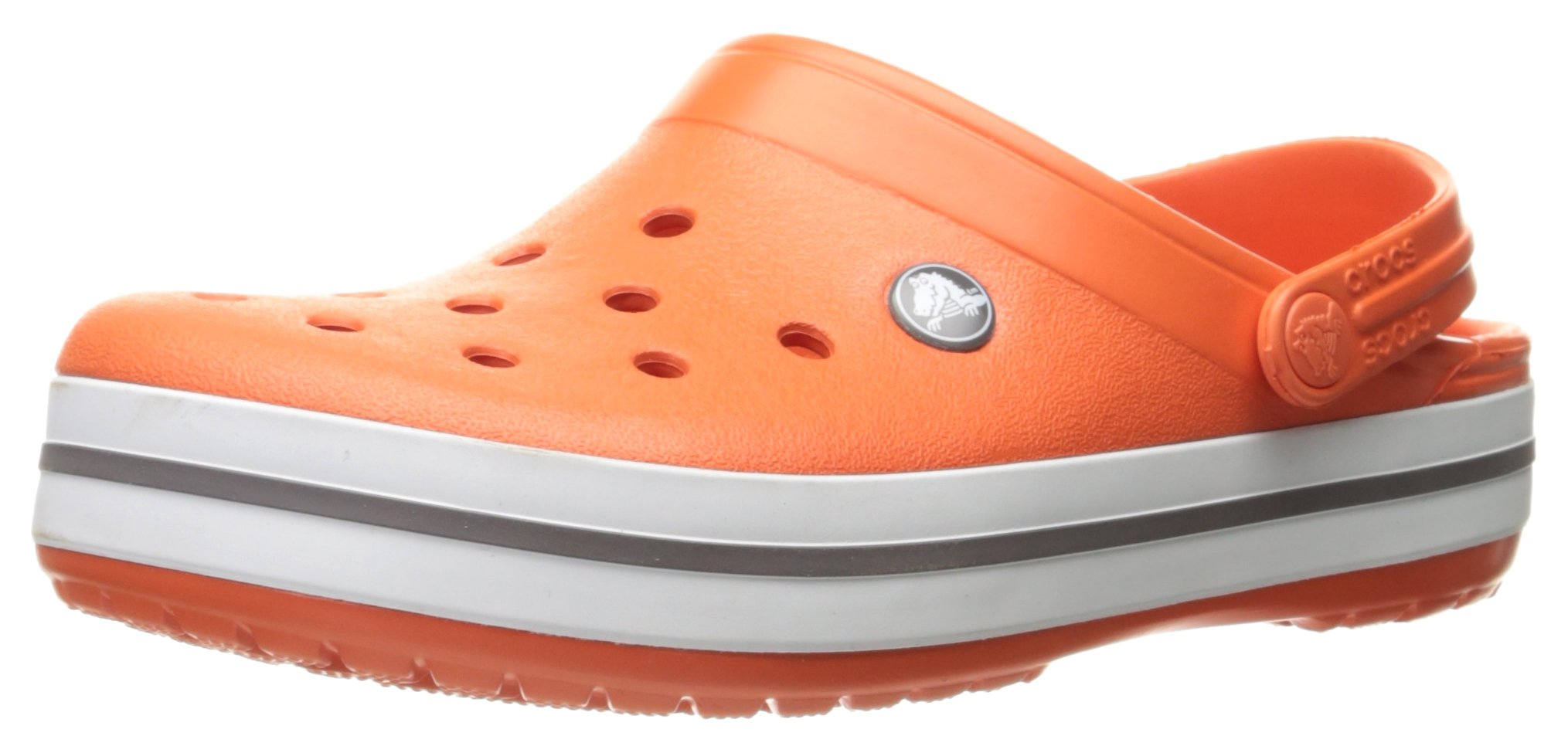 Crocs Unisex Crocband Clog, Tangerine/White, 9 US Men/11 US Women