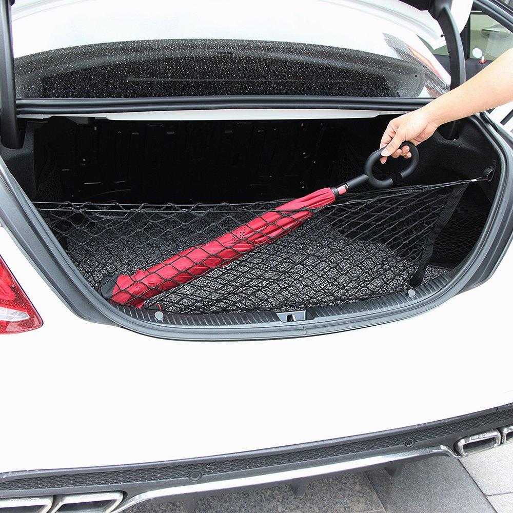 Cargo Net Car Rear Envelope Trunk Storage Net Organizer For Toyota Camry 2012 2013 2014 2015 2016 2017 2018 2019