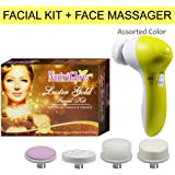Nutriglow Luster Gold Facial Kit-55g With Face Massager