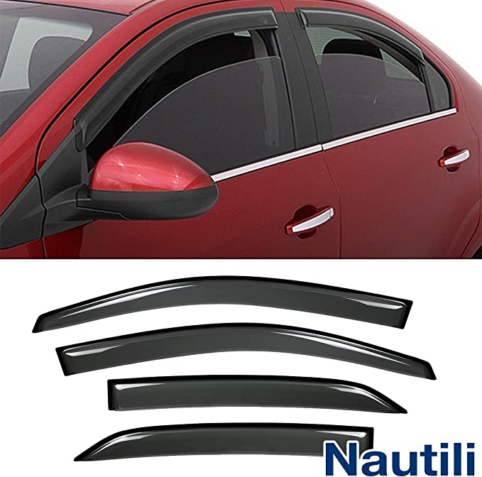Fits 09-13 Toyota Corolla Acrylic Window Visors 4Pc Set