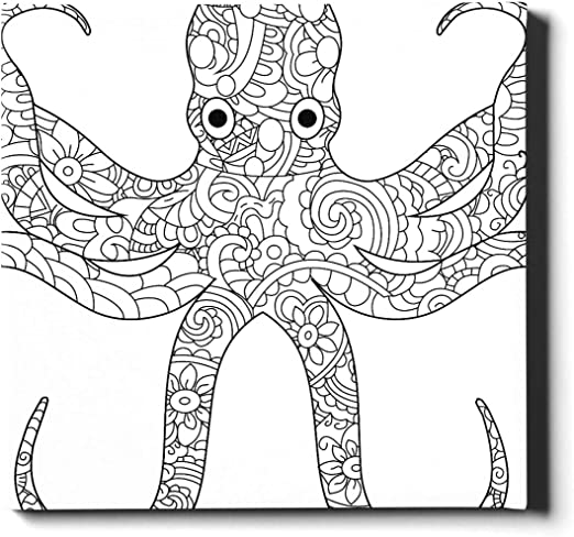 Amazon.com: HYTCSY Canvas Photo Prints 20x24 Inches(50x60 Cm) Octopus Sea  Animal Coloring Book For Adults Raster Paint For Walls Canvas Decorative  Painting Suitable For Home Decor: Posters & Prints