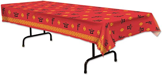 Chinese New Year Plastic Tablecover 54 X 108 Individually Priced