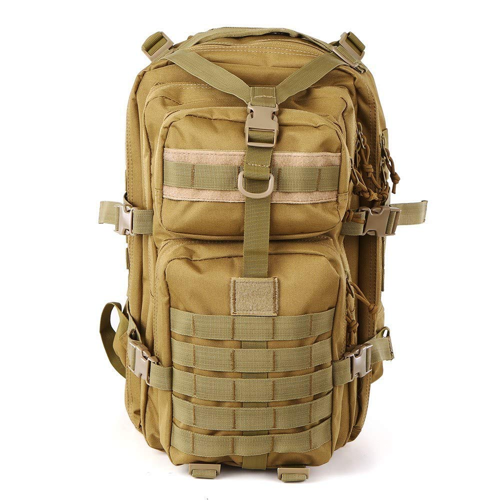 Khaki  XRPXRP 40L imperméable Multi-Purpose Military Tactical sac à dos grand 3-Day Assault Molle sac à dos for Hiking, Mountaineebague, Camping, Hunting, Fishing