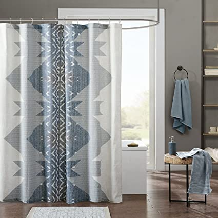 Ink Ivy Nova Shower Curtain 72x72 Blue