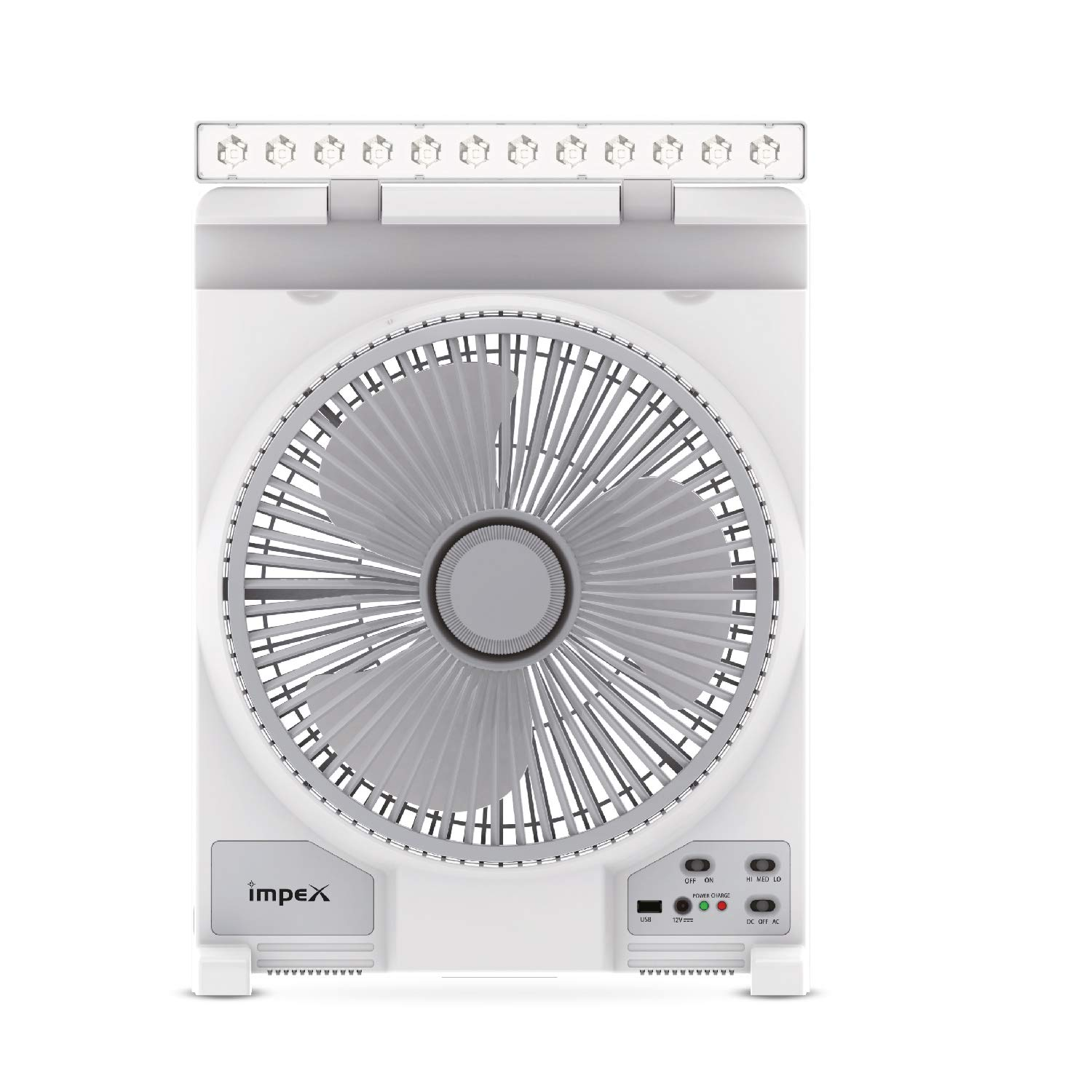 Impex Breeze Rechargeable Fan with USB Charging Port