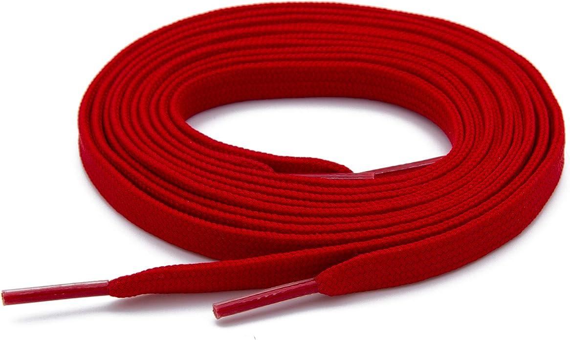 Schnürsenkel Flach Rot,45-240cm,8-10mm,reißfest,Sneaker,Turnschuhe,899laces