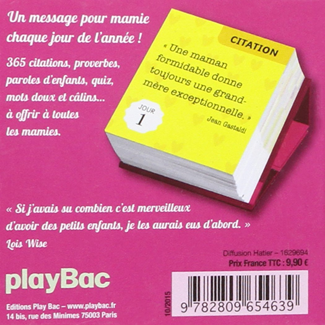 Amazon Fr Calendrier 365 Messages Pour Mamie Play Bac