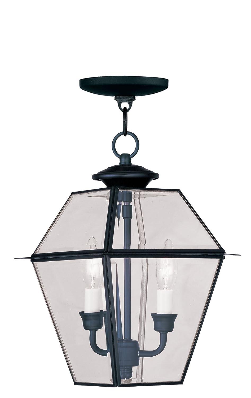 Livex Lighting 2285-04 Westover 2-Light Outdoor Hanging Lantern, Black