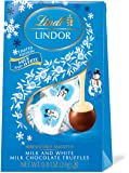 Lindt LINDOR Holiday Snowman Milk & White Chocolate Truffles Mini Gift Bag, Kosher, Great for Holiday Gifting, 0.80…
