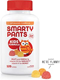 SmartyPants Kids Formula Daily Gummy Vitamins: Gluten Free, Multivitamin & Omega 3 Fish Oil , Methyl B12, Vitamin D3...