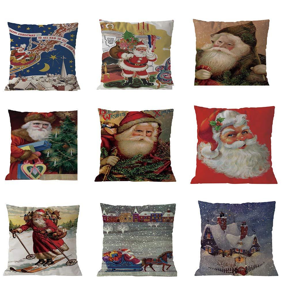 Rambling - Funda de cojín de Navidad para decoración de sofá ...