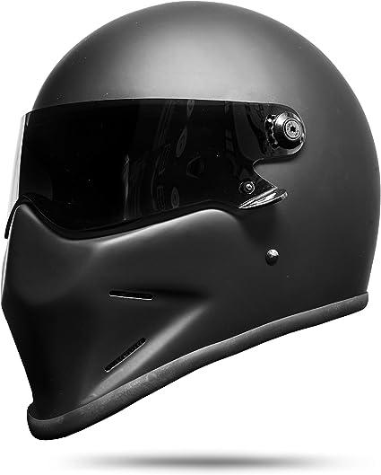 Amazon.es: ATO Moto Dark - Casco integral para moto, color negro mate y blanco