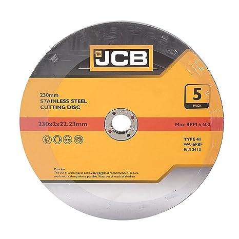JCB 230 mm discos de corte de acero inoxidable 5 unidades ...