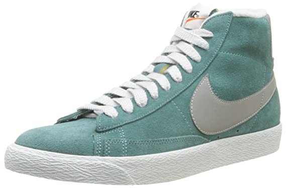 55df0486659f Nike Men s Blazer Mid Prm Vntg Sued Suede Green Basketball Shoes 10 Uk   45  Eu