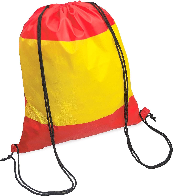 Mochila Bandera de España   10 Unidades   Tipo Saco con Cordones: Amazon.es: Equipaje
