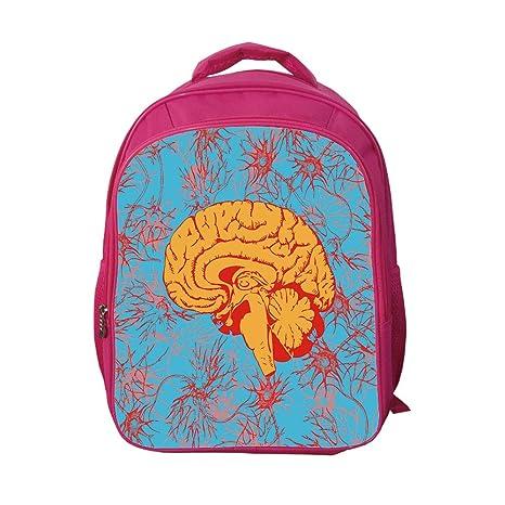 873c3c24637c iPrint School Bags Kid's Backpacks Custom,Surrealistic,Human Brain  Penetrated by Neural Communications Artistic