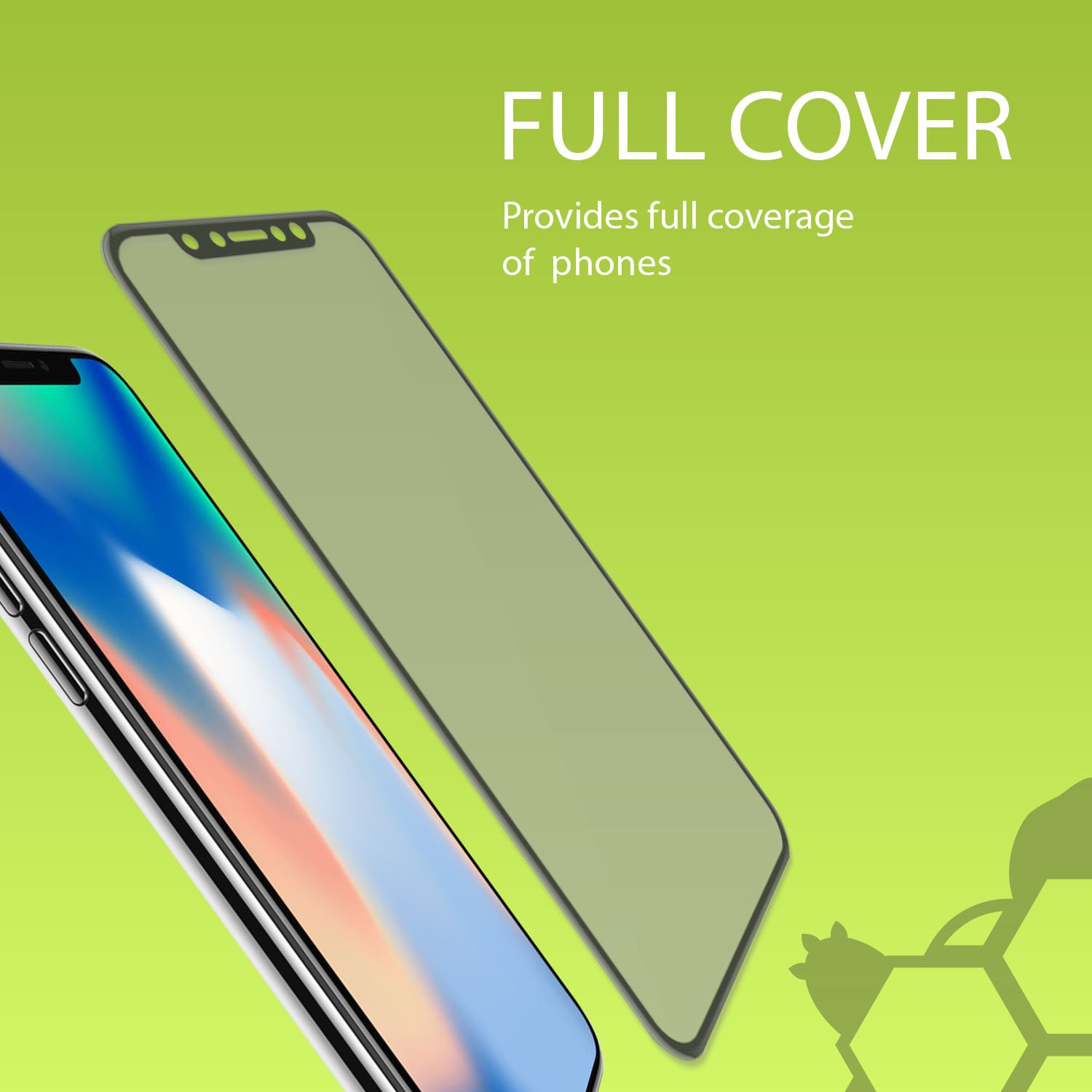30PK - Private and Personal Protection View [3D Full Coverage] Screen Protector for Apple iPhone X, iPhone 10, Strong, Tough, and Reistant Anti Spy 3D Full Cover Tempered Glass by TortugaArmor by TortugaArmor (Image #2)