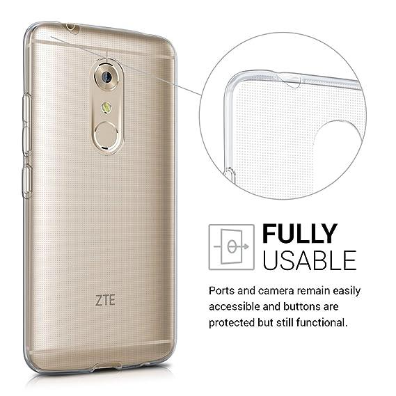 Amazon.com: kwmobile - Carcasa de silicona y TPU para ZTE ...