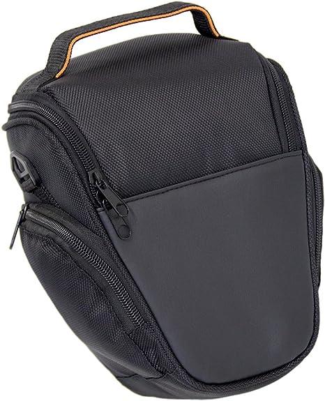 Bolso de la cámara del bolso SLR hombro caso funda protectora en negro para Canon EOS