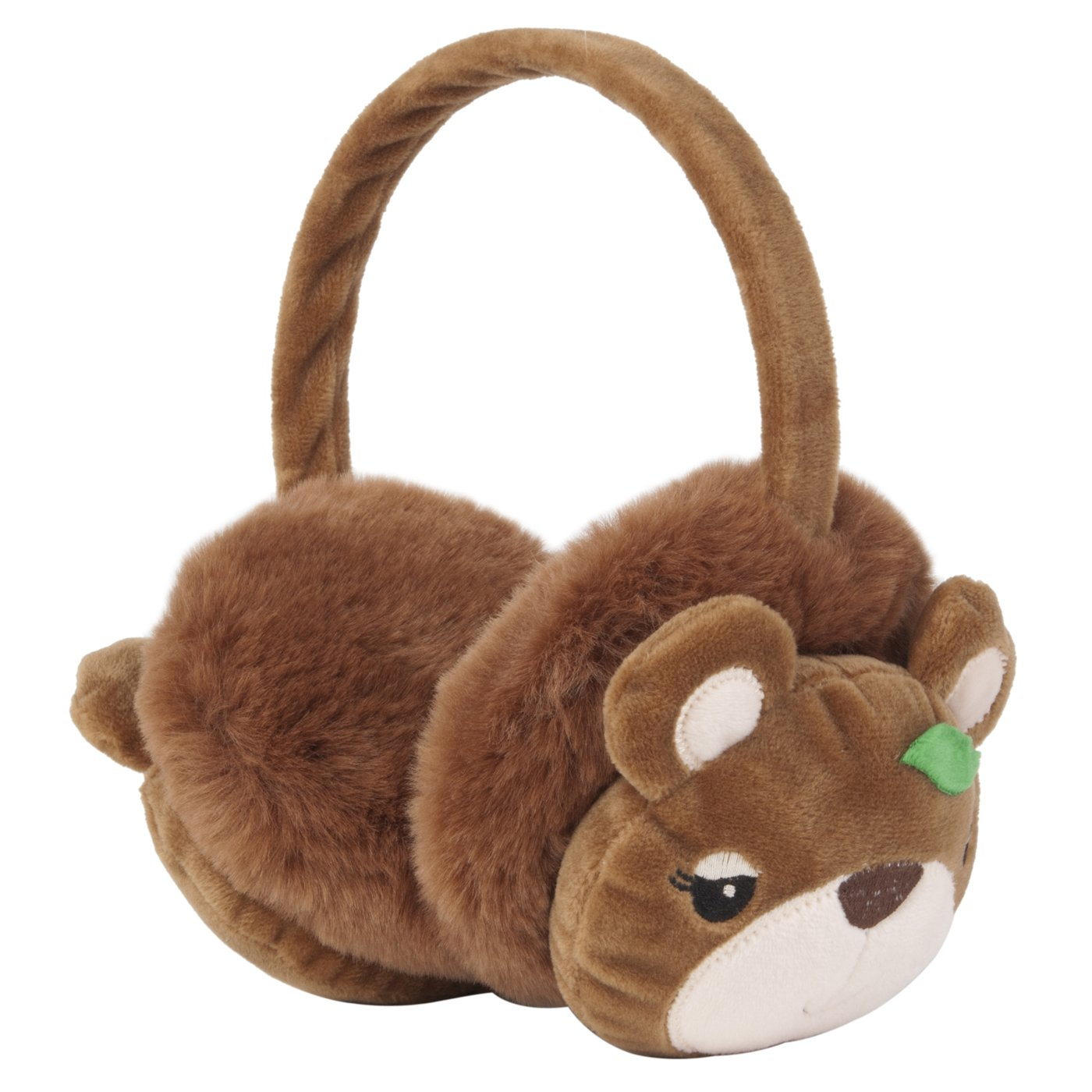 Momo Grow Marlee Bear Face Earmuffs (Fits Toddler to Adult) - Brown 220-144792-BRN