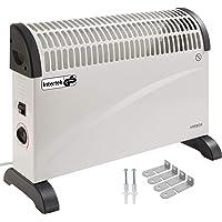 Arebos elektrische Konvektor Heizung / 2000 Watt/Thermostat/Frostwächter-Funktion/Mit Standfüßen oder zur Wandmontage/GS geprüft von Intertek (Standard)