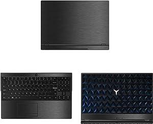 "decalrus - Protective Decal for Lenovo Legion Y530 (15.6"" Screen) Laptop Dark Grey Texture Brushed Aluminum Skin case Cover wrap BAlenovoLegionY530Dark Grey"