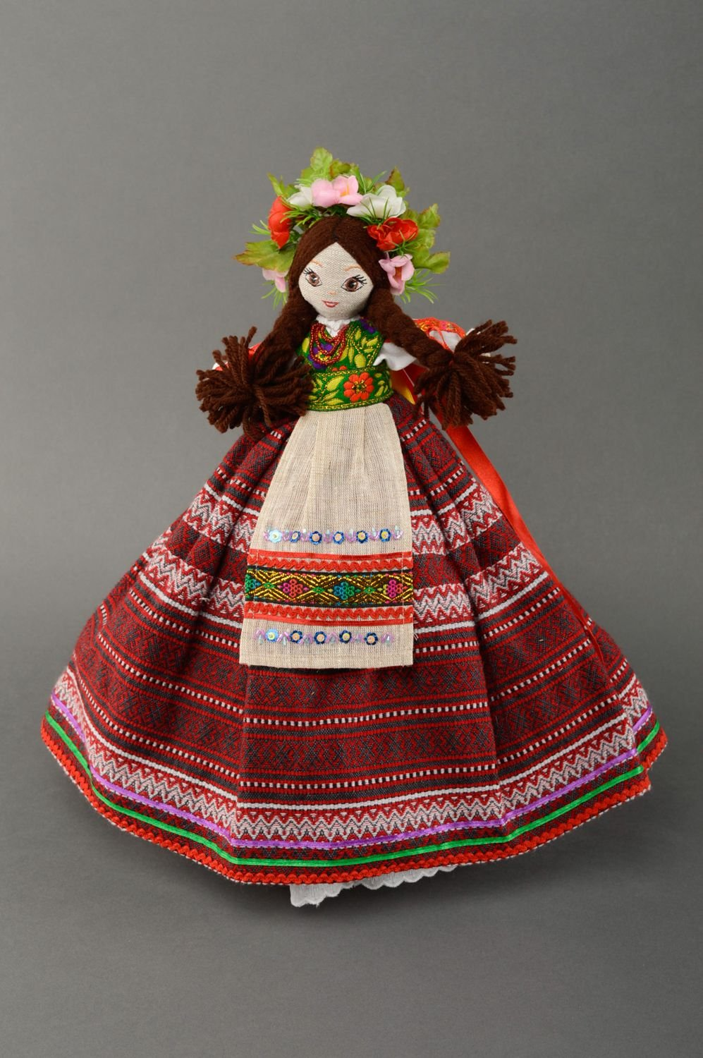 Teapot Cozy Interior Doll In Ukrainian Style