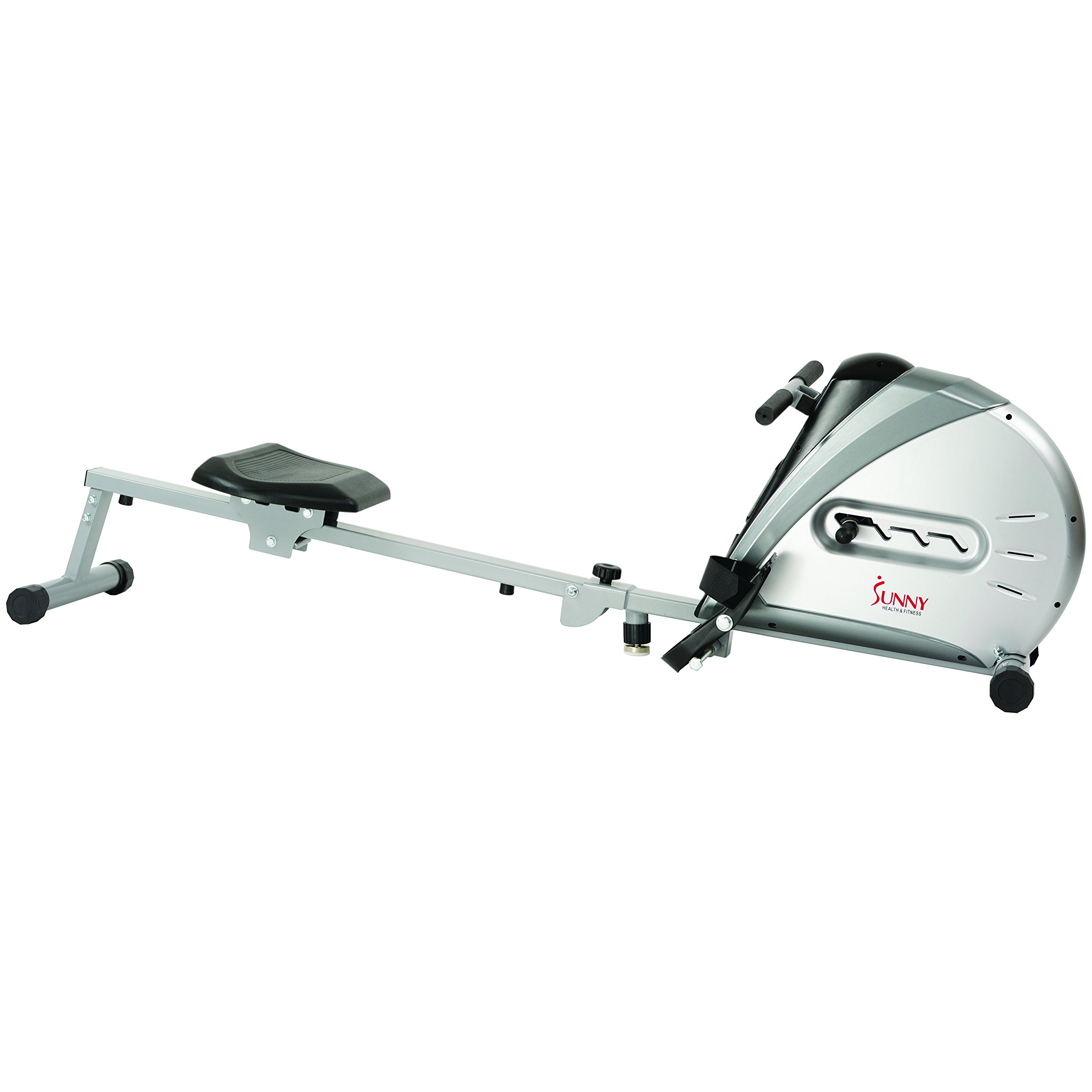 Sunny Health & Fitness Rowing Machine Rower Ergometer with Durable Elastic Cord, Digital Monitor, Inclined Slide Rail and Foldable -  SF-RW5606 by Sunny Health & Fitness (Image #5)