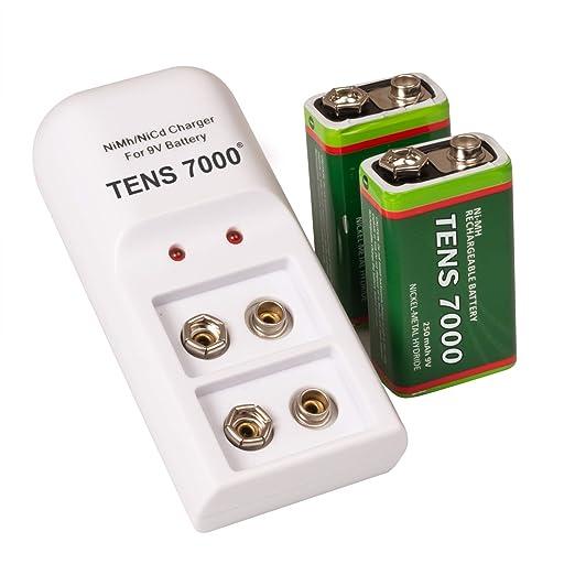 Amazon.com: TENS 7000 - Kit de baterías recargables (9 V ...
