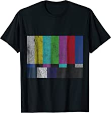Vintage TV Test Pattern Color Bars T-Shirt