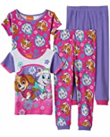 Nickelodeon Paw Patrol Toddler Girls 4 piece Pajamas Set