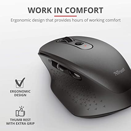 Trust Ozaa Wiederaufladbare Funkmaus Kabellose Maus Computer Zubehör